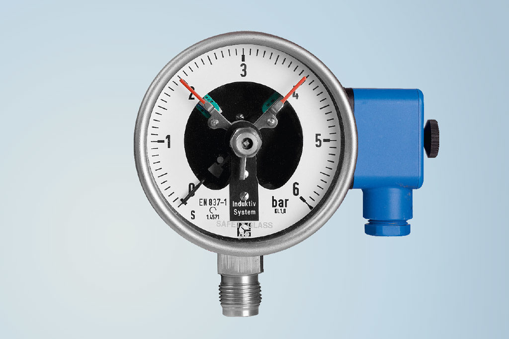 Bourdon tube pressure gauge by Schmierer