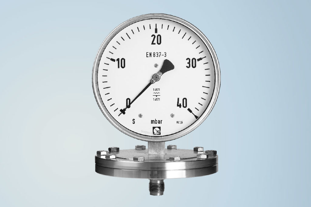 Diaphragm pressure gauge by Schmierer