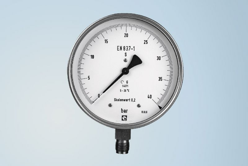 Test pressure gauge by Schmierer